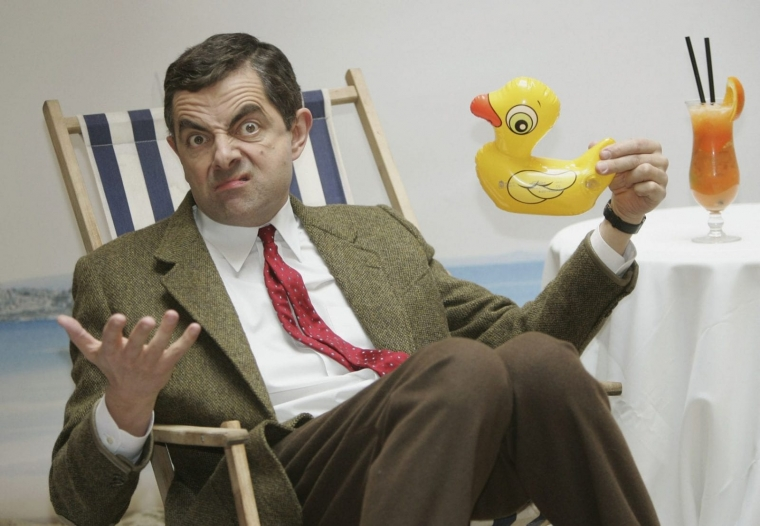 Rowan Atkinson attends a photocall for Mr. Bean's Holiday, a box office hit in 2007 (Getty Images)