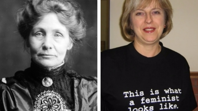 Emmeline Pankhurst was at the forefront of the women's suffrage movement - but would she approve of Theresa May as Prime Minister of the UK? (Photo: Getty Images/Fawcett Society)