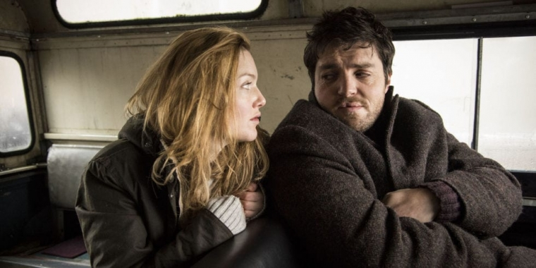 Holliday Grainger and Tom Burke as Strike and Robin (Photo: BBC/ Bronte Film and TV/ Steffan Hill)
