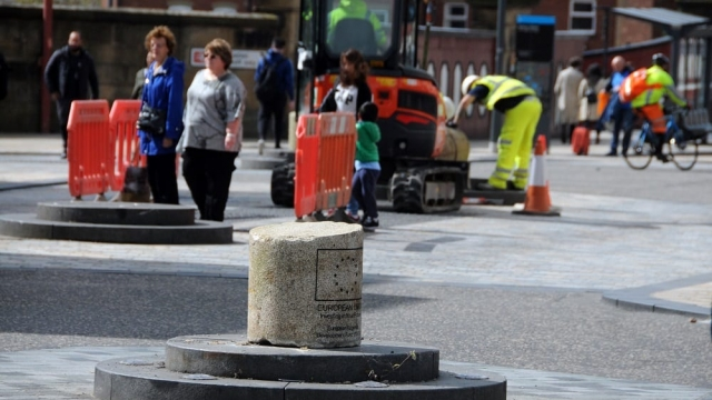 The Fishergate bollard is one of eight finalists in the 'City Star Award' category of Preston BID's annual awards. (Photo: Iain Lynn)