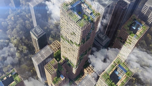 The building will be 70 storeys high (Sumitomo Forestry)