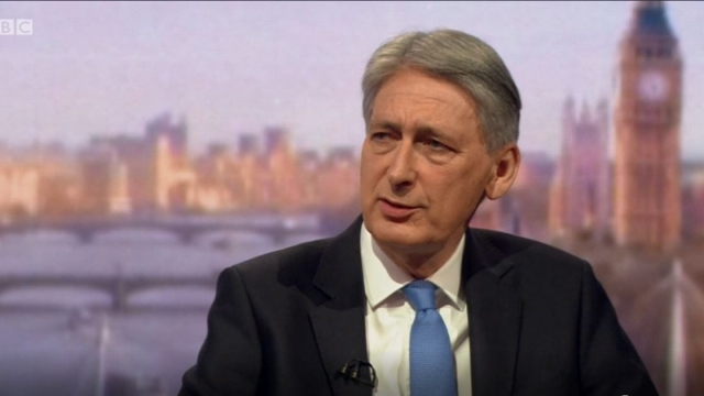 Philip Hammond has said here is 'light at the end of the tunnel' after years of austerity (BBC)