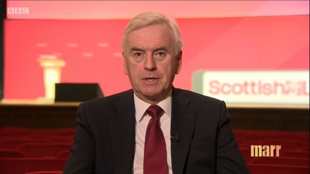 John McDonnell has called on senior Labour colleagues to stop appearing on Russia Today