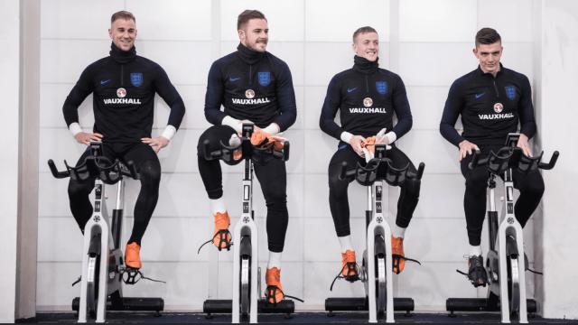 Article thumbnail: England goalkeeper training this week with Gareth Southgate.