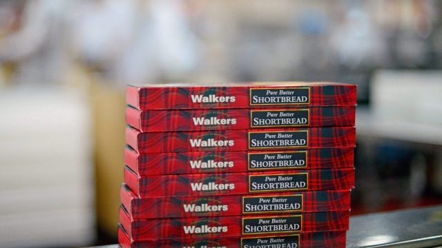Walkers shortbread traditionally has packaging featuring the Saltire. Photo: Getty