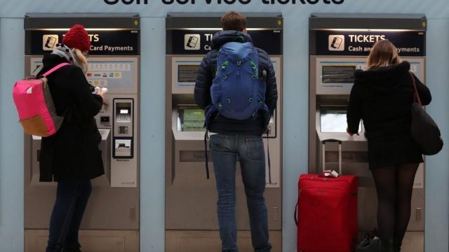 Millennial railcard commuters ticket machine
