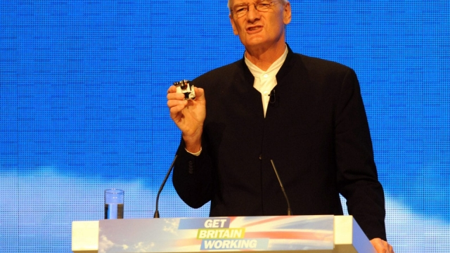 British inventor James Dyson, creator of the Dyson vacuum cleaner, speaks during the first day of the Conservative Party Conference in Manchester, north-west England, on October 5, 2009. AFP PHOTO/PAUL ELLIS (Photo credit should read PAUL ELLIS/AFP/Getty Images)