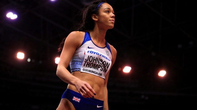 Article thumbnail: Katarina Johnson-Thompson World Indoor Championships gold medal Birmingham