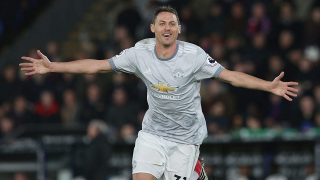 Nemanja Matic rifled in a late winner as Manchester United defeated Crystal Palace 3-2 at Selhurst Park (Getty)