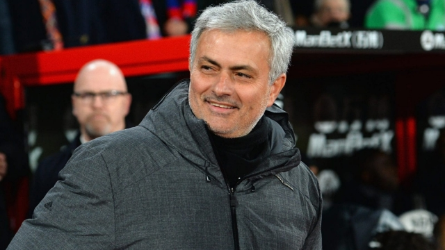 Seeing the light? Manchester United manager Jose Mourinho delights in the 3-2 comeback win at Crystal Palace