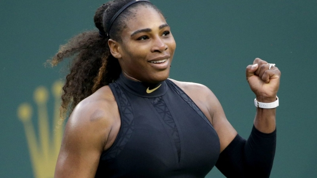 Serena Williams seeding Naomi Osaka