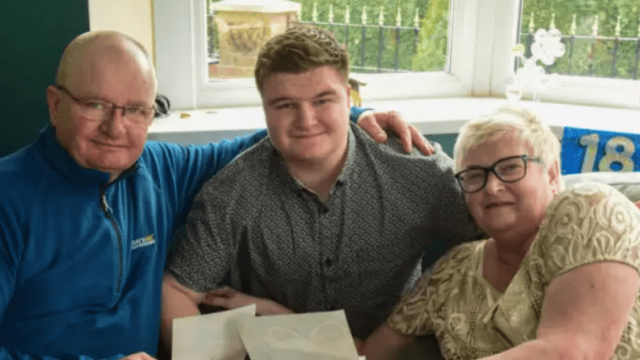 Alison and Joe Hockaday told how Daniel (centre) was born 13 weeks prematurely