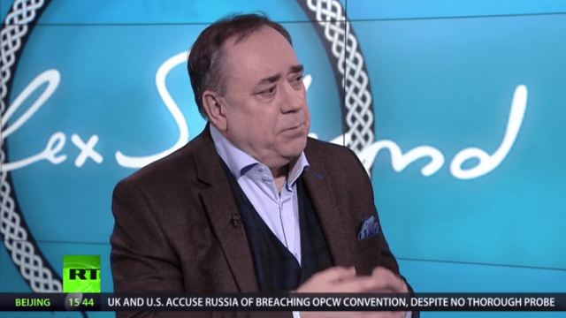 Alex Salmond defended his show on the Kremlin-backed broadcaster Russia Today (Photo: Russia Today)