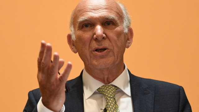 Vince Cable opposes the ferry investment (Photo: Leon Neal/Getty Images)