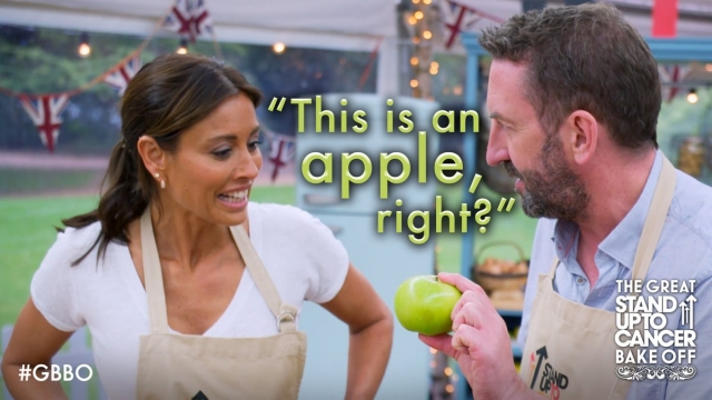 Lee Mack experiences a moment of doubt on 'The Great Celebrity Bake Off for Stand Up to Cancer'