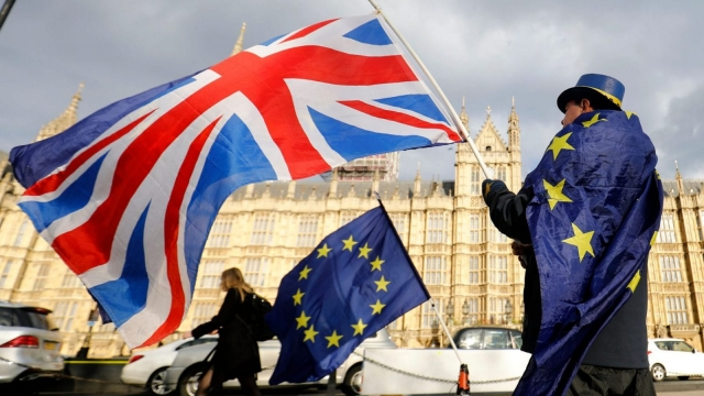 We're still not sure what a Red, White and Blue Brexit means (AFP/Getty)