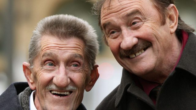 Children's entertainers the Chuckle Brothers, Barry (left) and Paul Elliott on 3 February 2014, who are making a TV comeback in Chuckle Time almost a decade since their long-running series ChuckleVision ended.