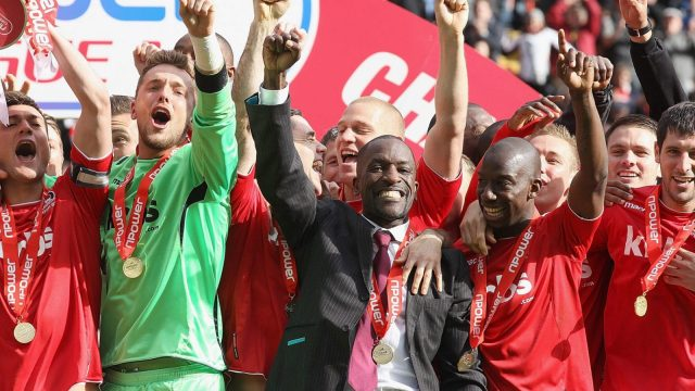 Chris Powell led Charlton to the League One title in 2012 but left as his relationship with owner Roland Duchatelet became increasingly strained (Getty Images)
