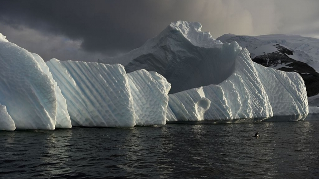 An iceberg is pictured in the western Antarctic peninsula. (Photo: Eitan Abramovich/AFP/Getty Images)