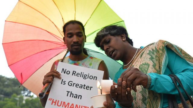 India, the second most populous nation on the planet, still has in place a British law banning 'sodomy' (Photo: Getty)