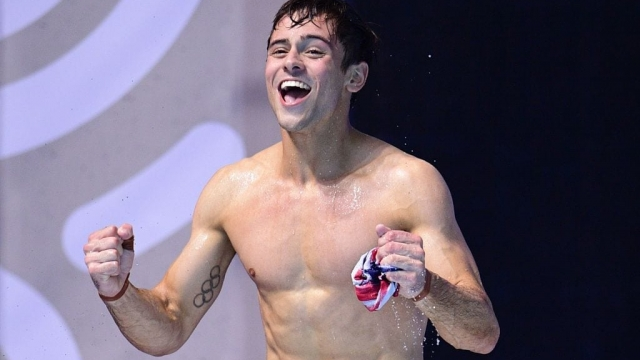 Article thumbnail: Great Britain's Tom Daley celebrates after winning the Men's 10m plaform final during the diving competition at the 2017 FINA World Championships in Budapest