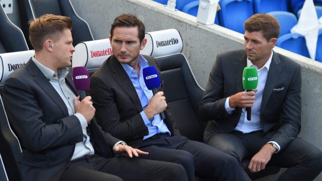 Jake Humphrey, Frank Lampard, Steven Gerrard
