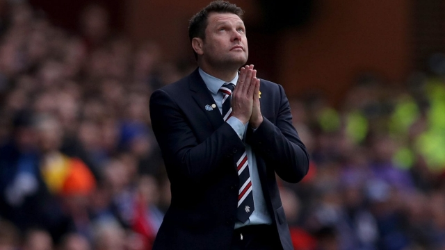 Rangers manager Graeme Murty looks to the heavens during Rangers' defeat by Celtic at Ibrox last month. Photo by Ian MacNicol/Getty Images)