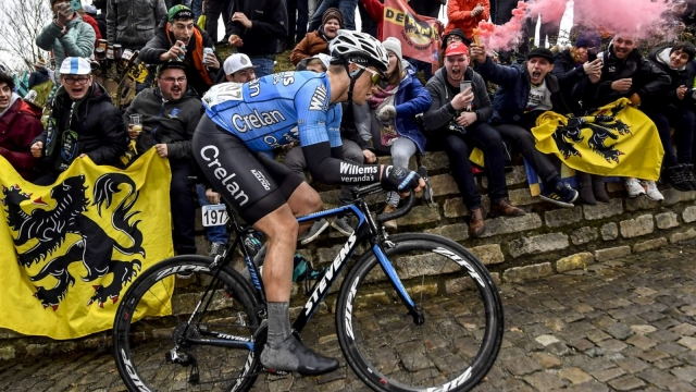 Belgian cyclist Michael Goolaerts has died after suffering a heart attack during Sunday's Paris-Roubaix race (Getty Images)