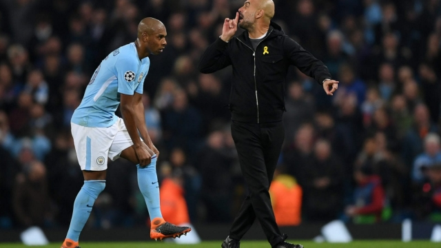 Manchester City manager Pep Guardiola was sent to the stands after complaining to the referee about his side's disallowed goal against Liverpool (Getty Images)