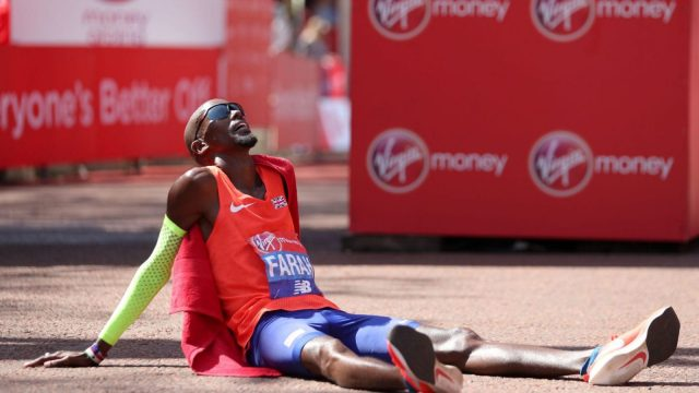 It was the hottest London Marathon on record with the April heat hitting23.2C (Getty Images)