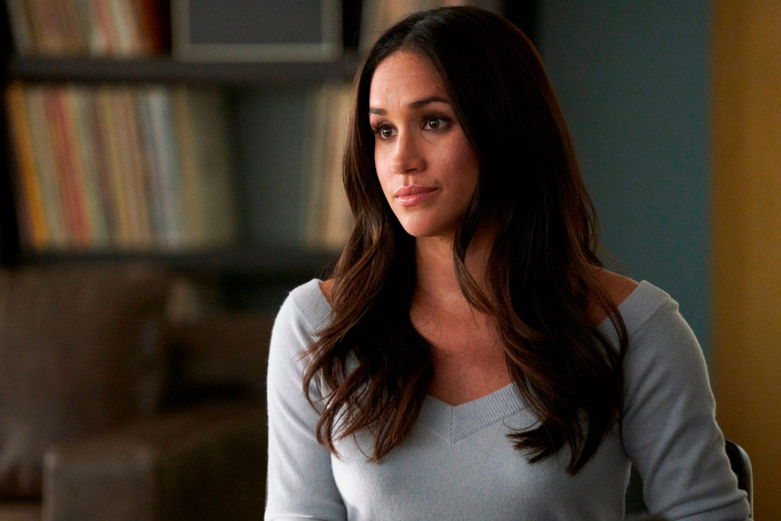 """Meghan Markle appears in a scene from """"Suits."""" Real life will imitate art this spring at the USA series """"Suits"""" when series regular Markle bids farewell to the legal drama in a wedding - and then goes off to marry her prince in real life. Photo: AP"""