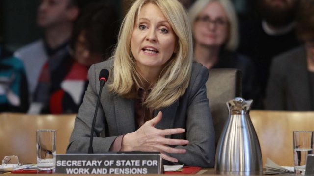 Article thumbnail: Esther McVey was heckled by members of the public in a Holyrood committee meeting covering Universal Credit and the rape clause (Photo: PA)
