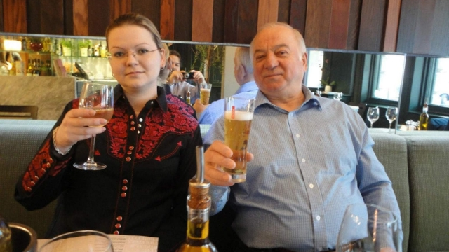 Article thumbnail: Sergei Skripal and Yulia Skripal pictured at what is believed to be Zizzi's in Salisbury in 2016.