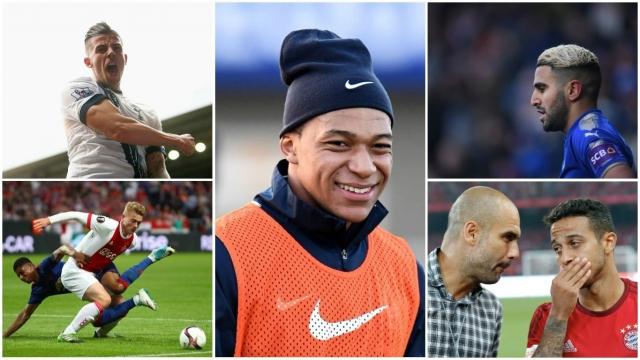 Manchester City Transfer Targets Summer 2018 window Kylian Mbappe Mattijs De Ligt Thiago Alcantara Riyad Mahrez Toby Alderweireld Pep Guardiola