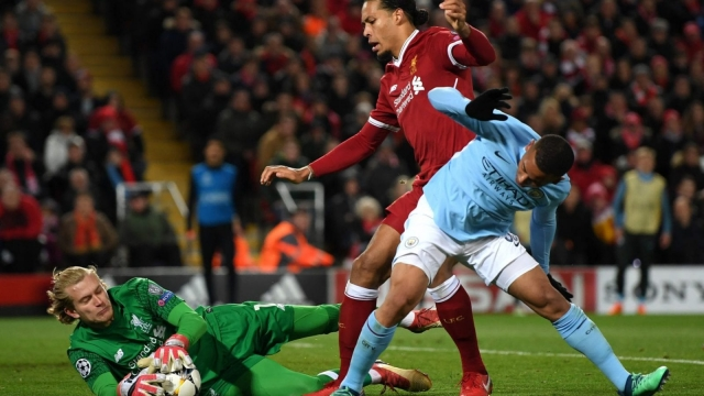 City, arguably the best attacking side in Europe this season, failed to register a single shot on target against Liverpool and Van Dijk was central to that (Getty Images)
