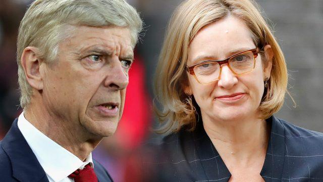 Arsene Wenger Amber Rudd Windrush Customs Union resignation