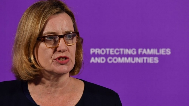Home Secretary Amber Rudd speaking at the launch of the Serious Violence Strategy. (Photo: John Stillwell/PA Wire)
