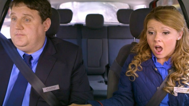 Peter Kay and Sian Gibson teamed up for a completely improvised episode of 'Car Share' Photo: BBC