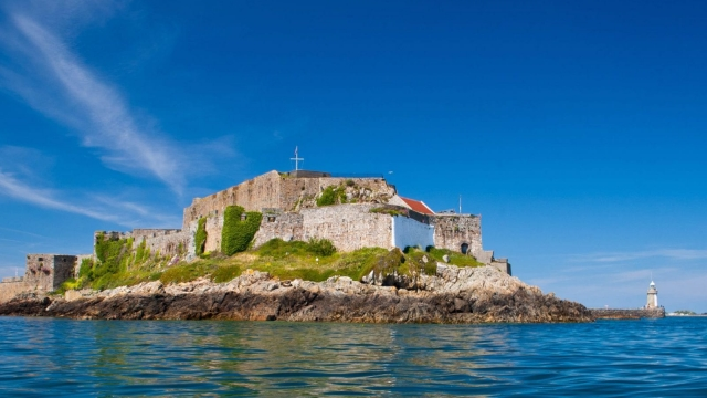 The 800-year-old Castle Cornet at the entrance to St Peter Port harbour