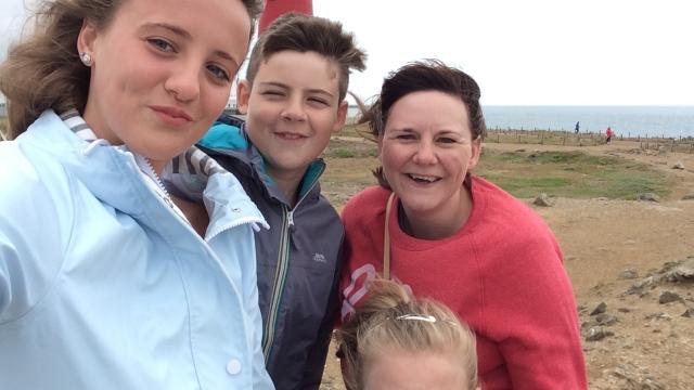 Emma Bradley and her three children