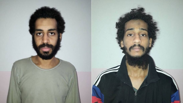 "El Shafee Elsheikh, left, and Alexanda Kotey are alleged to have been part of an Isis cell nicknamed ""the Beatles"" (Photo: AFP)"