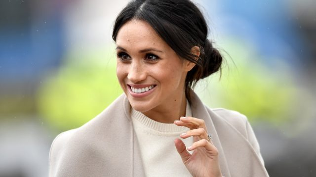 Meghan Markle's casual updo is tricky for mere mortals to perfect (Charles McQuillan/Getty)