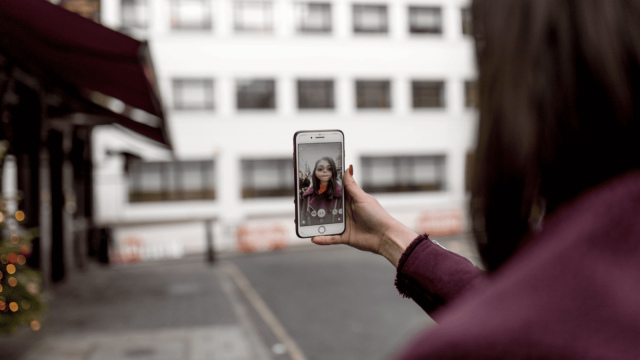 Our campaign uses Snapchat's facial recognition software to allow victims to anonymously tell their stories