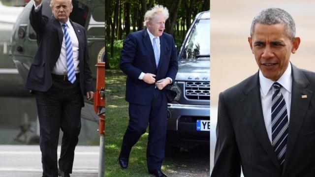 Trump, Johnson and Obama