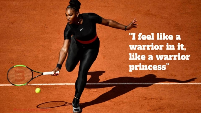 Serena William's catsuit not only made her feel like a 'superhero', they saved her life. (Photo by Matthew Stockman/Getty Images)