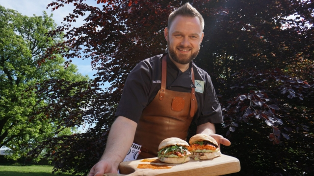 Cookery teacher Richard Holden gives lessons in how to barbecue