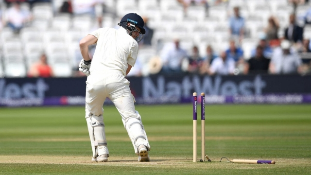 Dominic Bess of England bowled by Mohammad Amir of Pakistan on 27 May 2018.