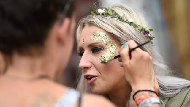 Over 60 UK festivals including Bestival, Field Day and Secret Garden Party have promised to forbid the sale of plastic glitter on-site within the next three years (Photo: Oli Scarff/AFP/Getty Images)