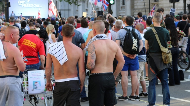 "Attendees at the far right ""Day for Freedom"" rally"