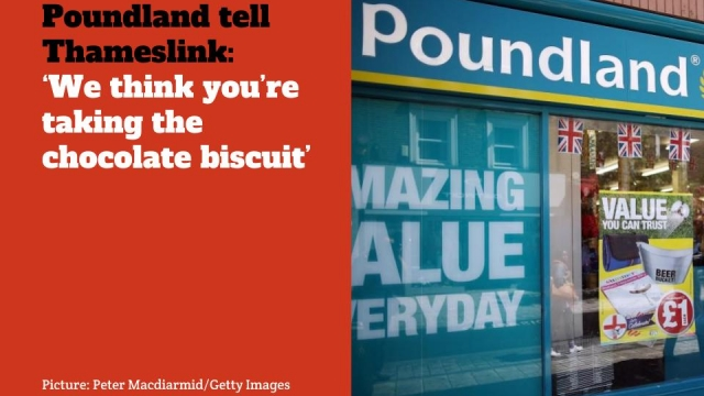 Poundland Thameslink Twitter Spat over chocolate comparison